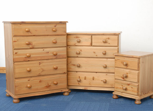 Malvern Range Chest of Drawers and Bedside Table