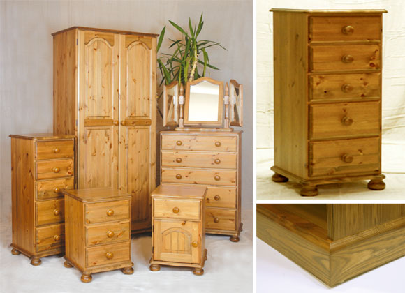 Full Malvern Range Wardrobe Chest of Drawers