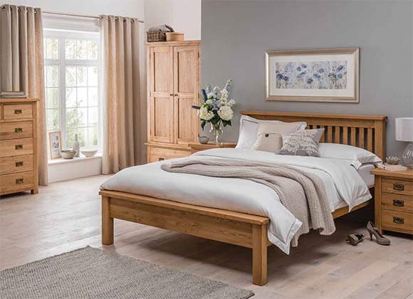 Cwmbran Pine and Oak Country Oak Bedroom
