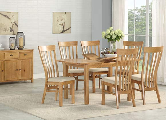 Cwmbran Pine and Oak Kilmore Oak Dining