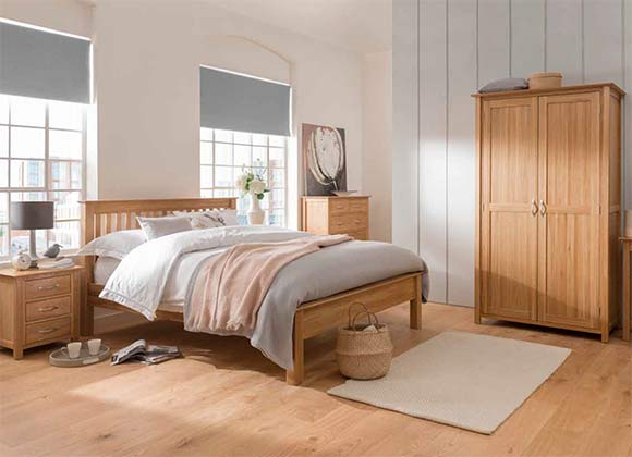 Cwmbran Pine and Oak Milano Oak Bedroom