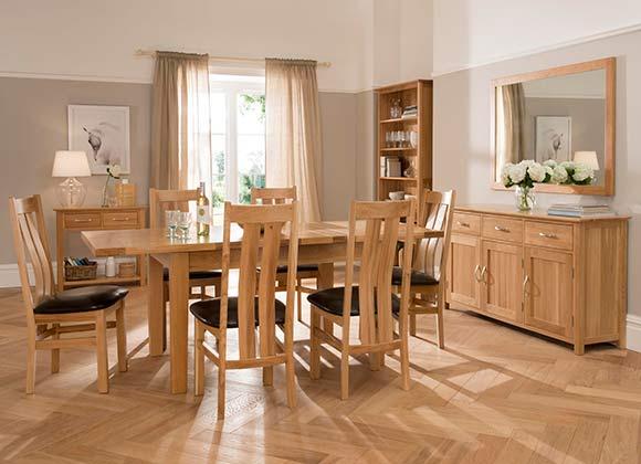 Cwmbran Pine and Oak Milano Oak Dining