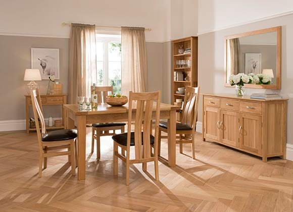 Cwmbran Pine and Oak Milano Oak Dining