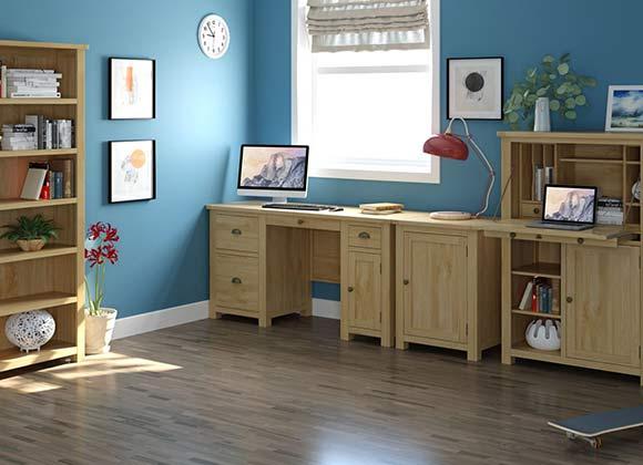 Cwmbran Pine and Oak Portland Oak Bedroom