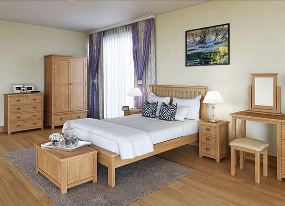 Cwmbran Pine and Oak Portland Oak Bedroom