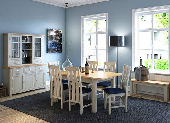 Cwmbran Pine and Oak Portland Oak Dining Painted