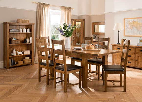 Cwmbran Pine and Oak Rustic Oak Dining Set